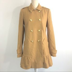 Juicy Couture Wool Blend Camel Coat